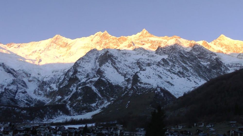 Saas-Fee Som sunset