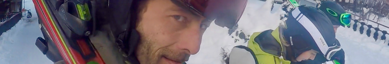 xavier skiing in january in saas-fee ski zenit